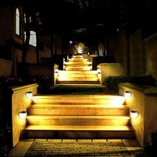 New 6 LED Powered Outdoor Garden Lamp