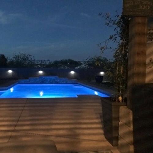Solar Powered Gutter 6LED Lights Outdoor Waterproof Wall Lamp