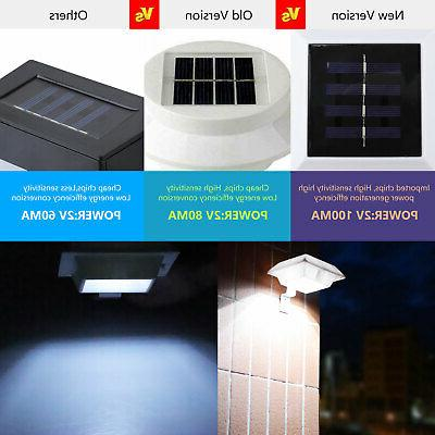 6 LED Gutter Fence Garden Waterproof Wall Lamp US