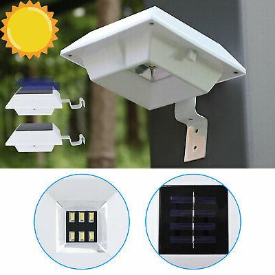 6 led solar powered gutter fence lights