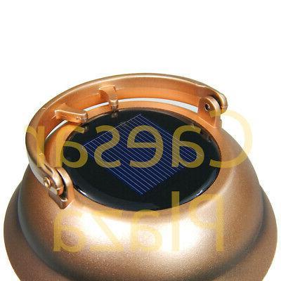 6 Outdoor Copper Color 2 Solar Hanging Landscape Lights Lantern