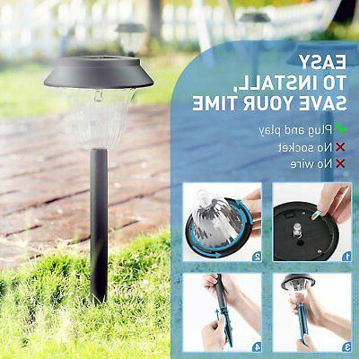 6 Garden Solar Lights Pathway Lamps Waterproof
