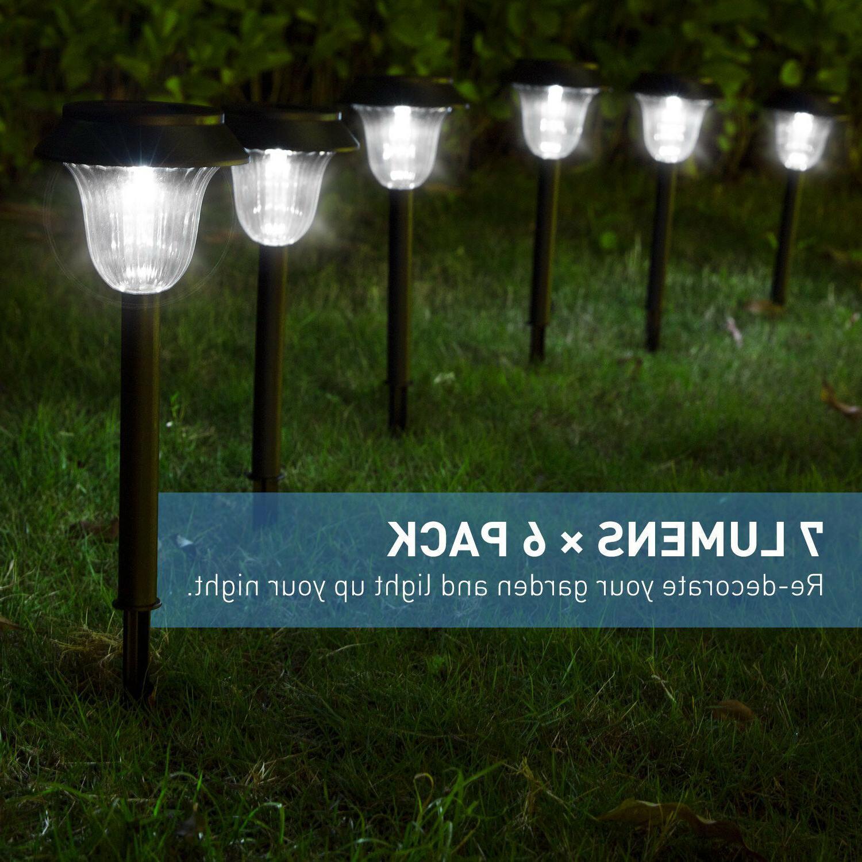 6 Pack Solar Lights Landscape Waterproof