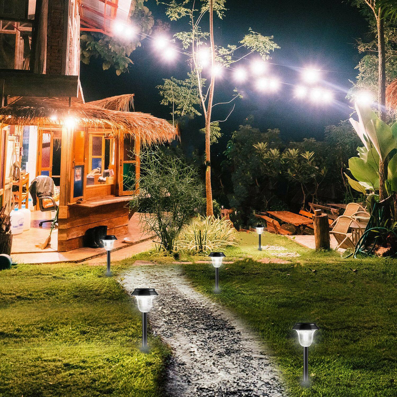 6 Pack Garden Lights Waterproof Outdoor