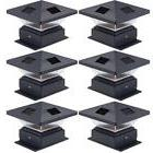 Westinghouse 6 Pack Pagoda II Black Solar Post Cap Lights fo