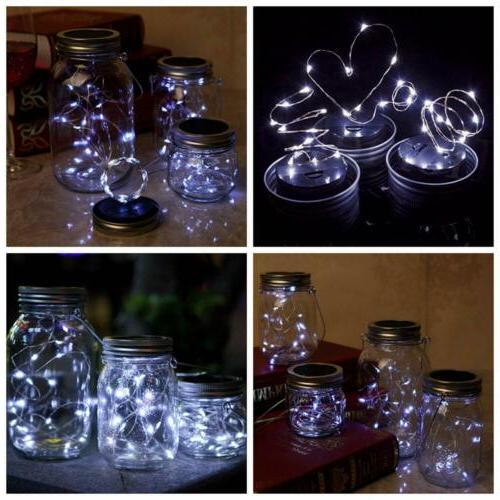 3-Pack Mason 20 String Lamp Lids Decor White
