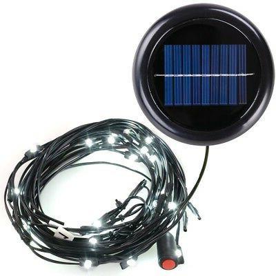 8ft 9ft 6 ribs Aluminum Outdoor Patio Umbrella LED String Li