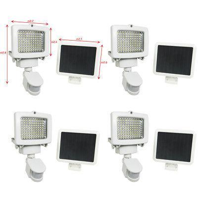 4 PACK 80 SMD LEDs Outdoor Solar Motion Sensor Security Floo