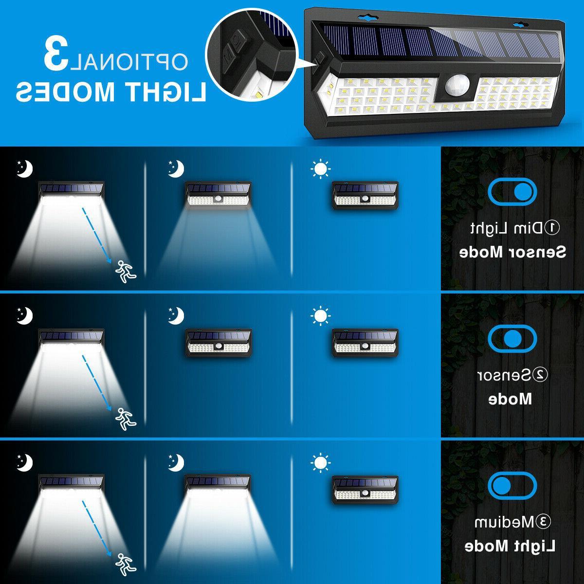 AMIR 62 LED Bright Motion Sensor Lights Outdoor Waterproof