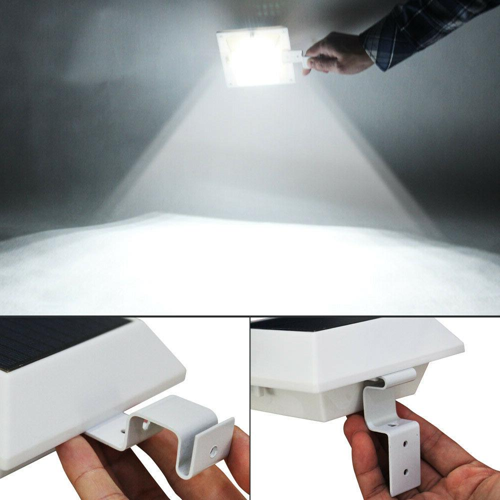 6pcs 12LEDs Solar Gutter Lights Outdoor Lamps Security