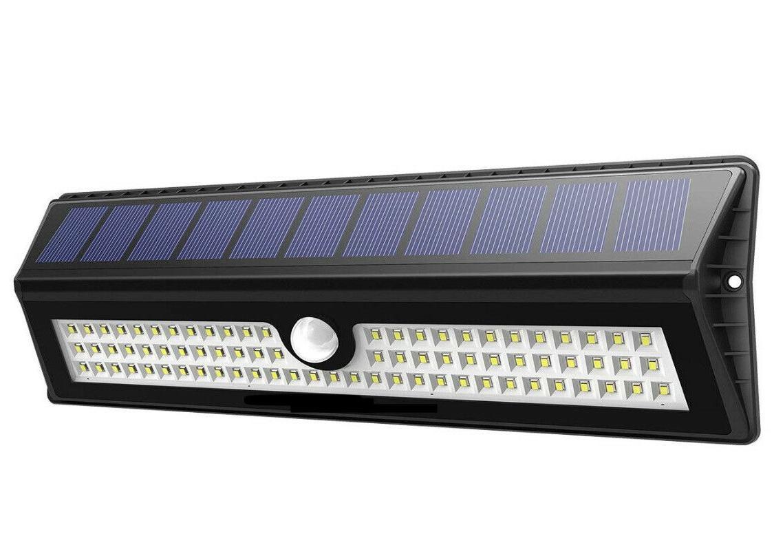 77 led solar lights outdoor motion sensor