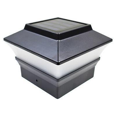 8 Black 4 Post Deck Light PVC Vinyl
