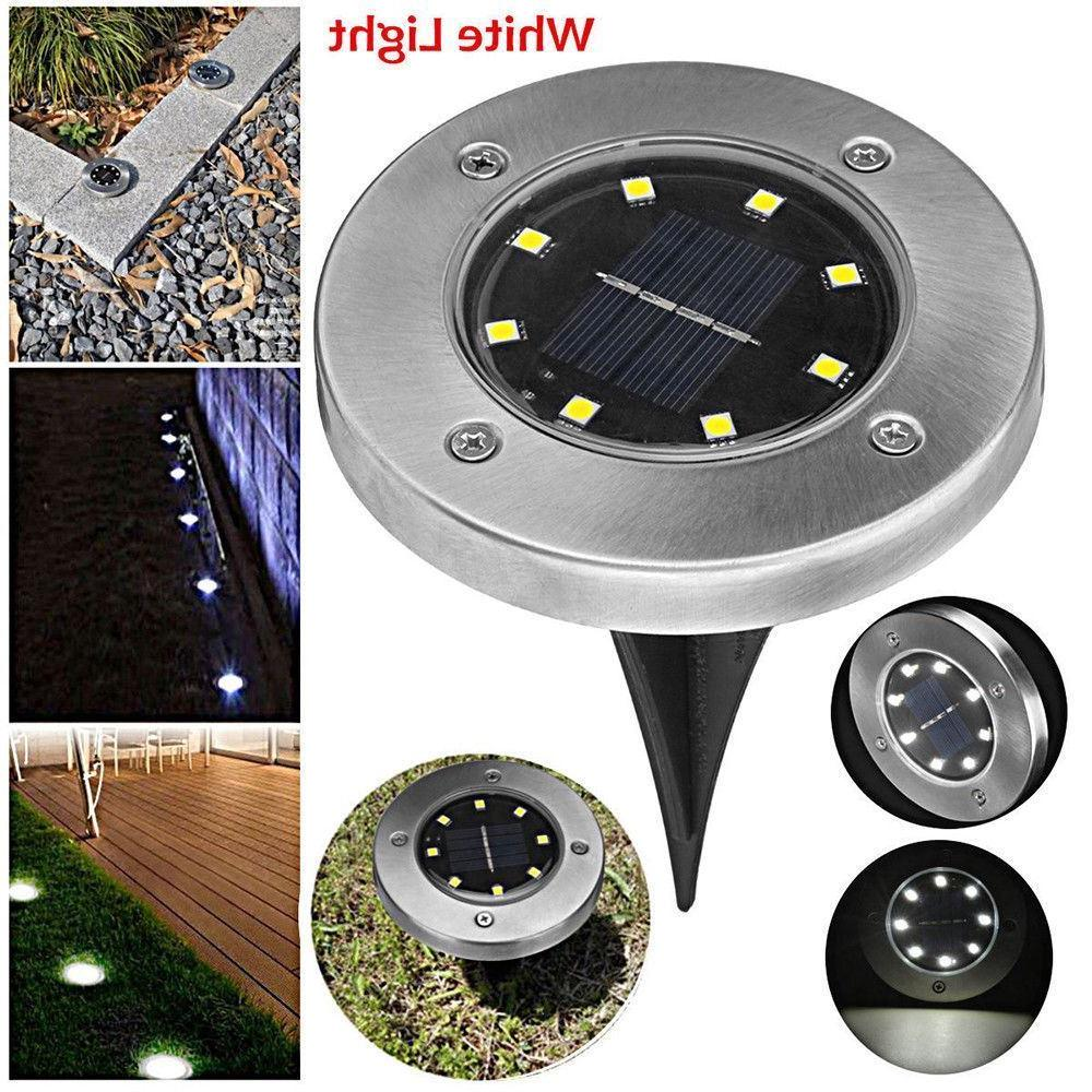 8 LED Buried Solar Power Light Under Ground Lamp Outdoor Pat