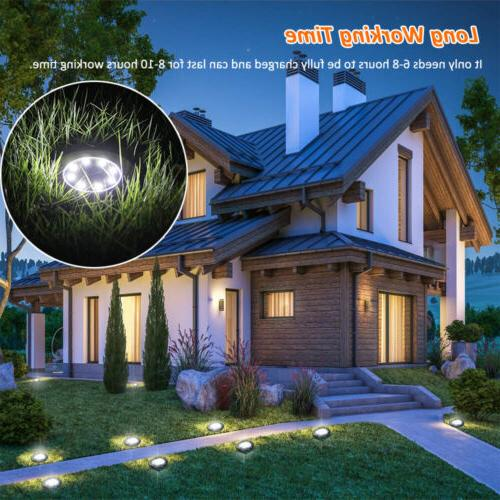 8 Solar Lights Ground Lawn Deck Path