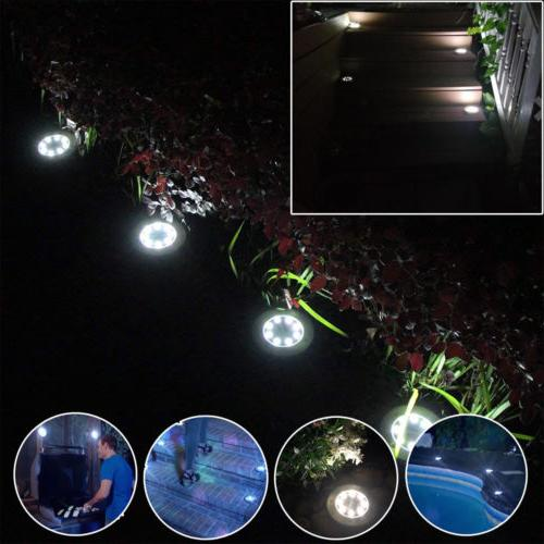 8 LED Lights Ground Garden Waterproof