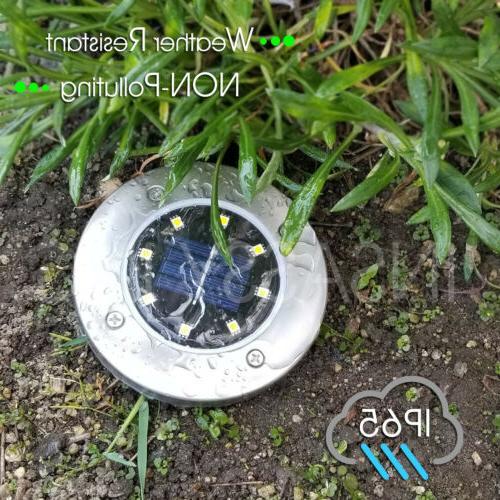 8 LED Ground Lights Disk Garden Pool