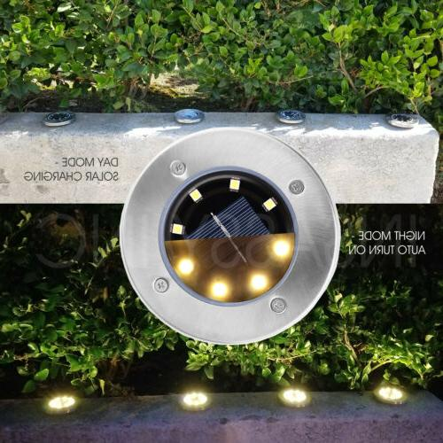 8 LED Lights Disk for Outdoor Garden Path Yard Pool