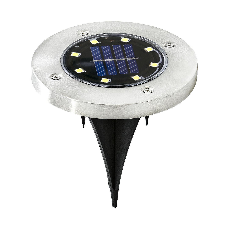 8 Solar Ground Lights,Garden Pathway In-Ground Lights