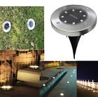 8 LED Solar Power Source Light Under Ground Lamp Waterproof