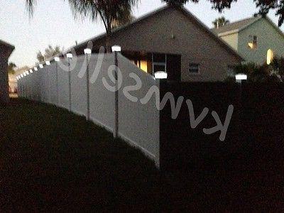 8 Solar Cap Square Fence Light Plastic
