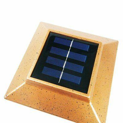 8 Outdoor 4X4 Garden Solar Post Cap Square Fence Light Plastic