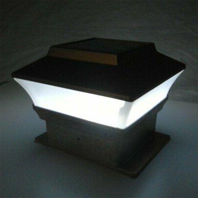8 Outdoor Solar Post Cap Plastic LED