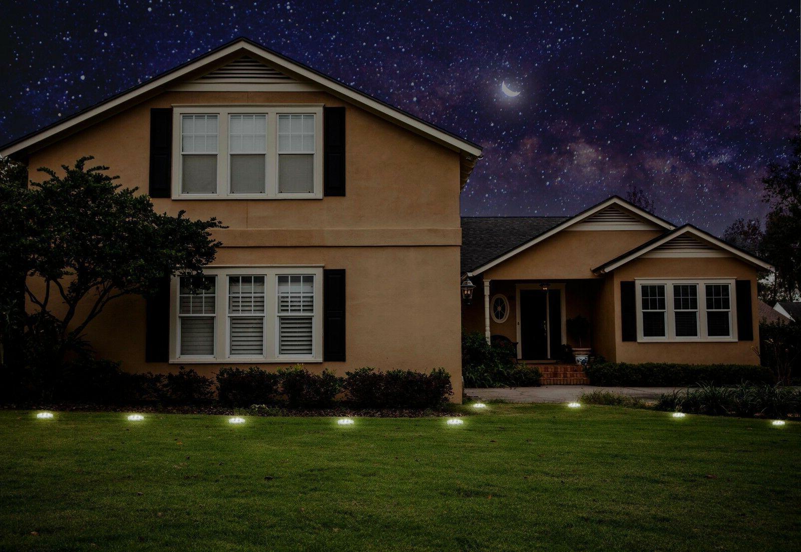 8 LED Solar Ground In-Ground
