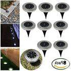 8 Pack 8 LED Solar Power Buried Light Under Ground Lamp Outd