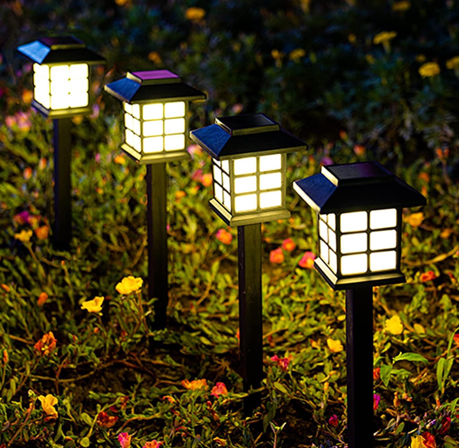 GIGALUMI 8 LED Solar Lights Waterproof