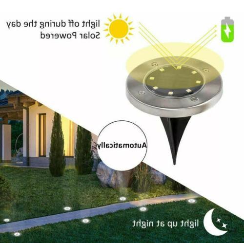 GIGALUMI 8 Pack Solar Ground Lights, LED Solar Lights Outdoor