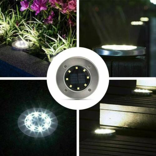 GIGALUMI Ground 8 LED Solar Lights Outdoor