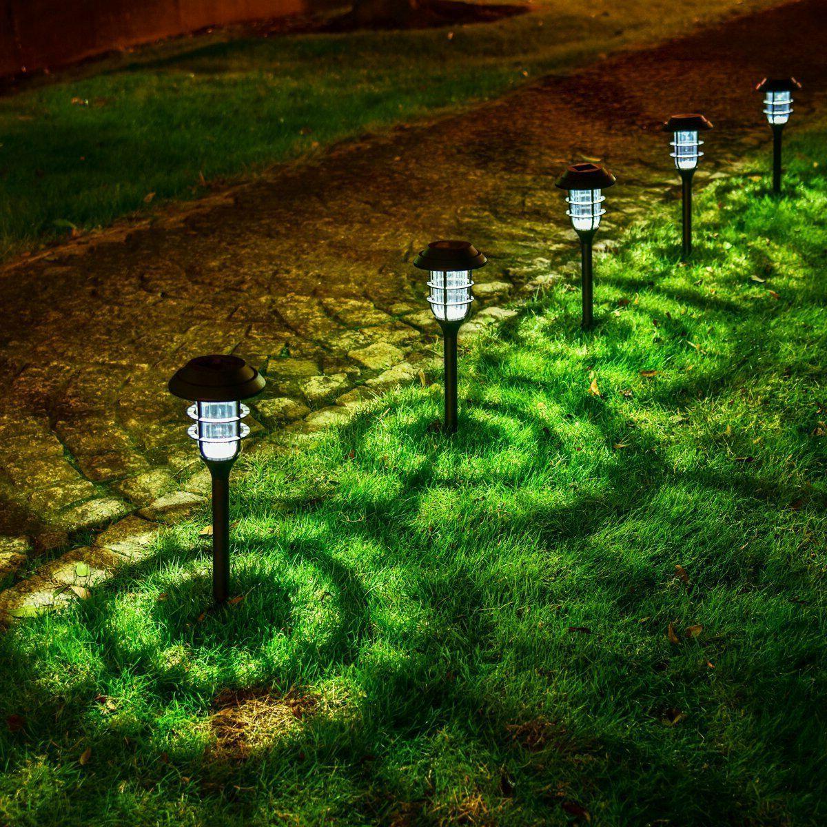 8Pcs Solar Lights Waterproof LED Outdoor Garden Landscape Lamp