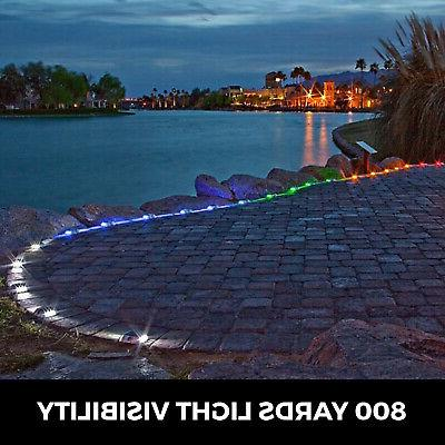 8 Solar LED Marker Lights for Pathway Driveway Dock Path