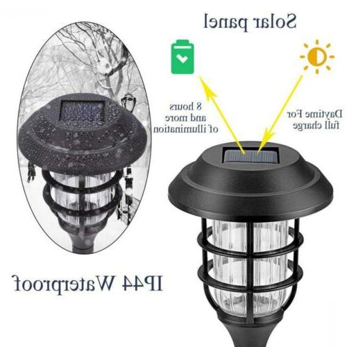 GIGALUMI 8 Solar Lights Outdoor Pathway, Led