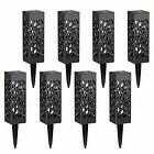 Maggift 8 Pcs Solar Powered LED Garden Lights Automatic for