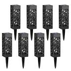 8 pcs solar powered led garden lights