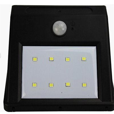 8 LED Power PIR Motion Wall Light Outdoor Lamp