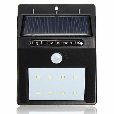 8 PIR Motion Wall Light Lamp