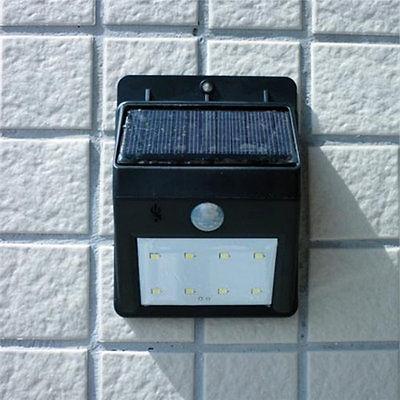 8 Solar PIR Sensor Light Garden Lamp