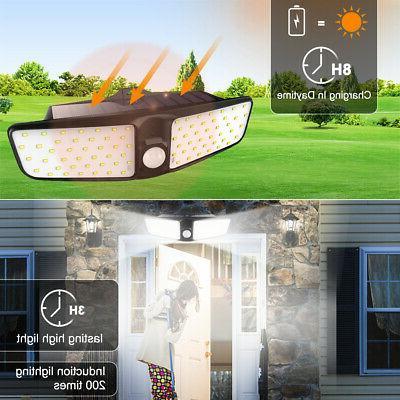80LED Dual Security Solar Spot Light Sensor Outdoor