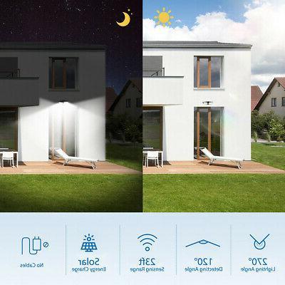 80LED Dual Security Solar Spot Sensor Floodlight