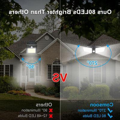 80LED Dual Solar Light Motion Sensor Outdoor