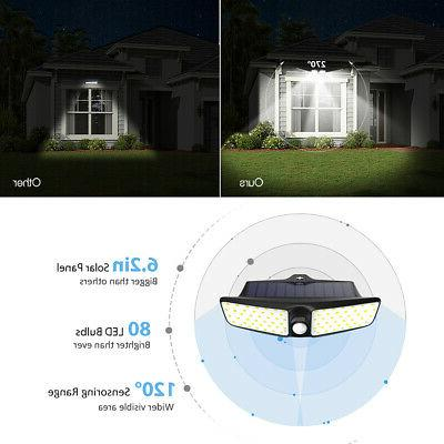 80LED Solar Sensor Floodlight