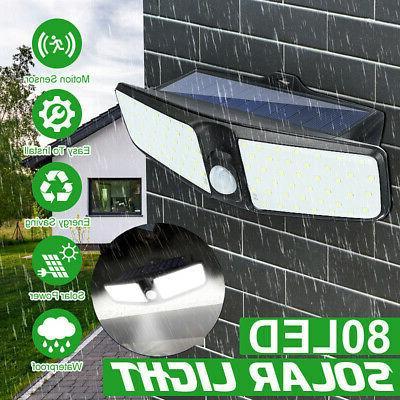 80led dual security detector solar spot light