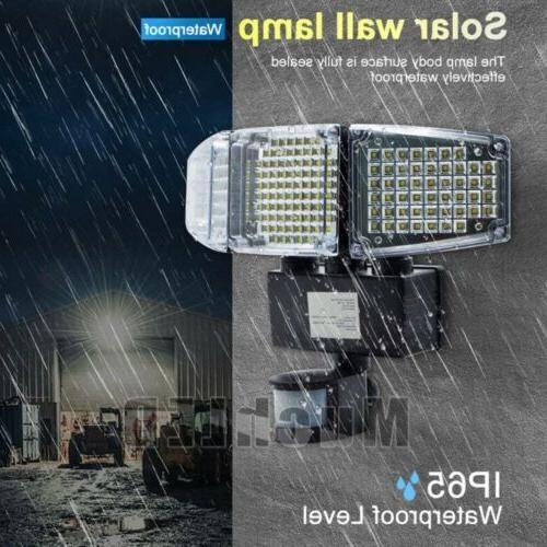 8000LM Security Sensor LED Adjustable 3-Head