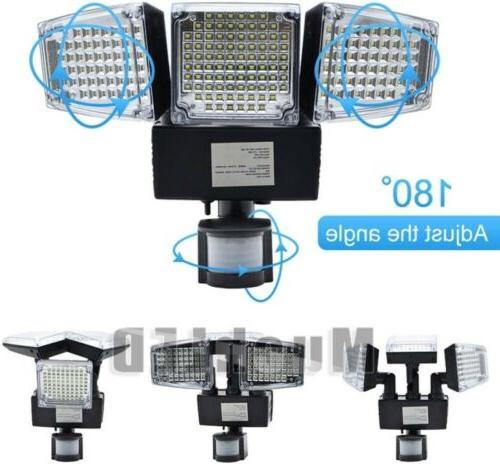 8000LM Security Motion Sensor Flood Light 188 LED Adjustable Lamp