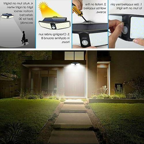 80LED Security Solar Sensor Outdoor Floodlight