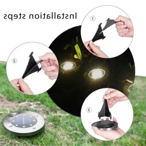 1pc 8LED Ground Lights Outdoor Light Waterproof In-Ground