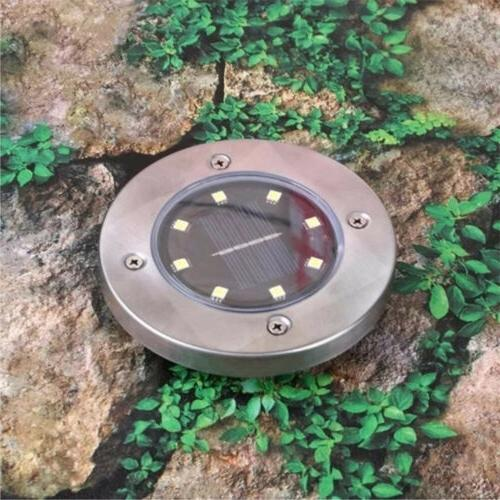 8LED Disk Lights Ground Garden Path US!!
