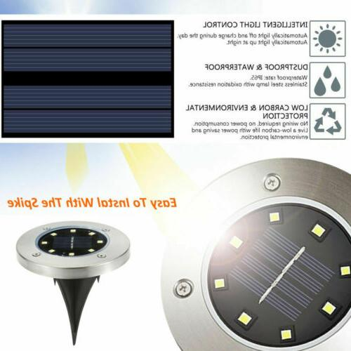 8LED Disk Ground Lawn Deck Outdoor